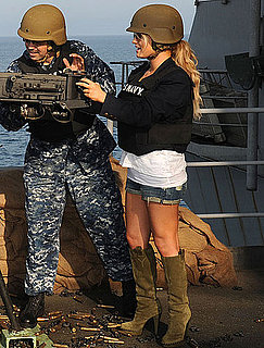 Pictures of Jessica Simpson on Navy Ship