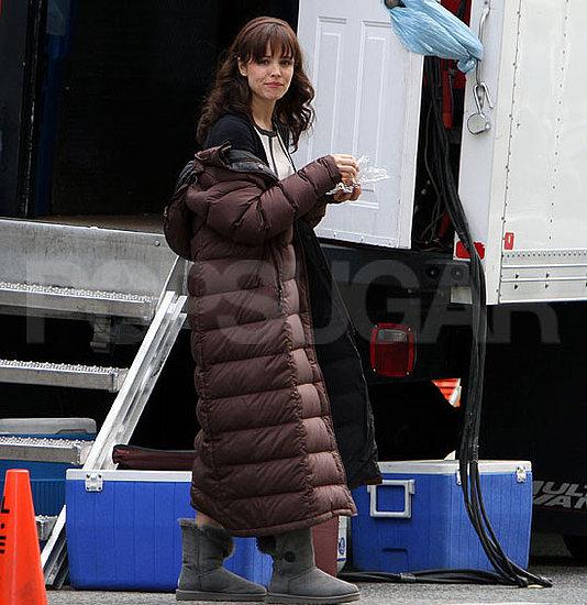 Pictures of Rachel McAdams Shooting The Vow in Toronto