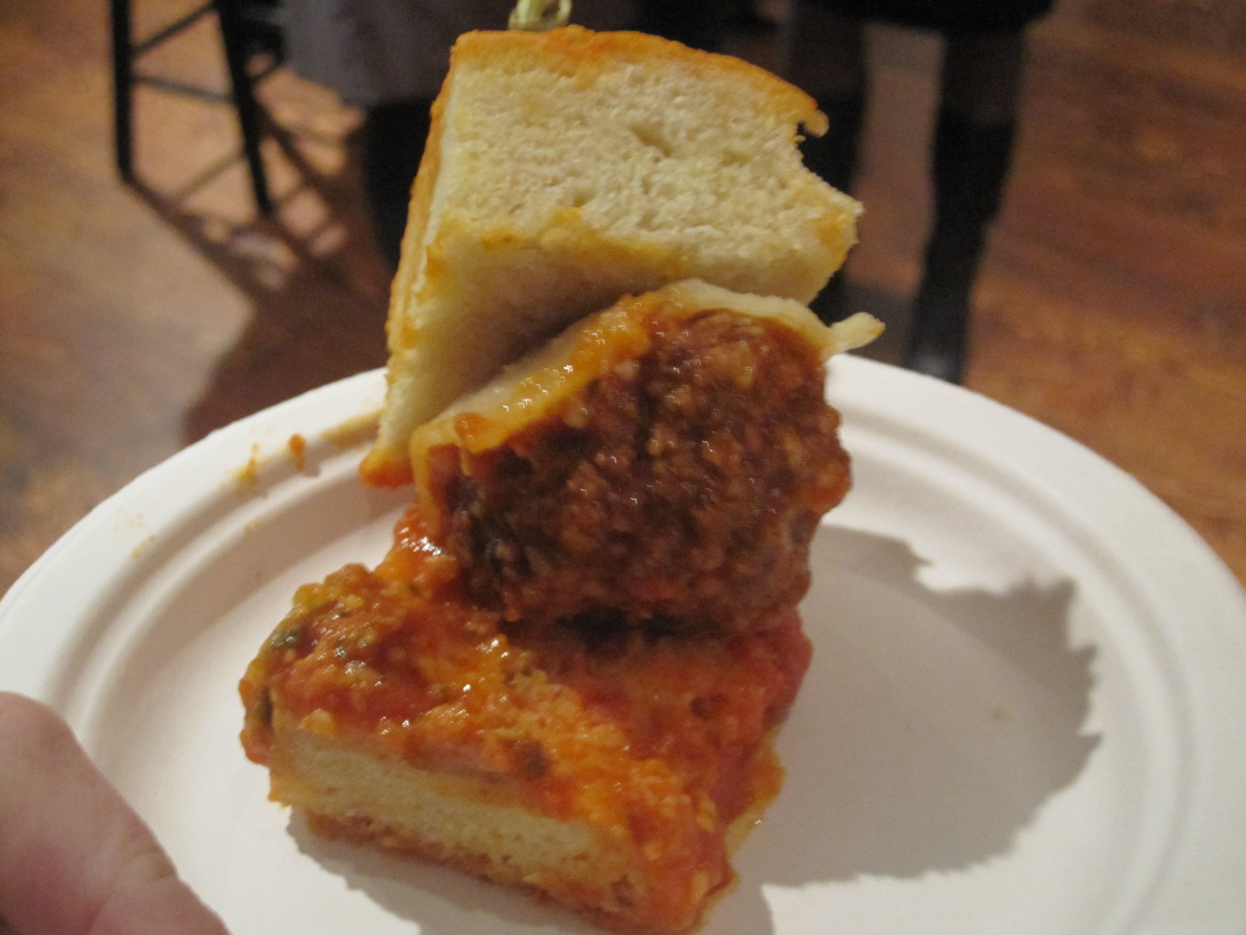 The winning meatball was finger-licking good.