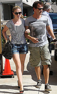 Pictures of Anna Paquin and Stephen Moyer Shopping Hand in Hand at Barneys in LA
