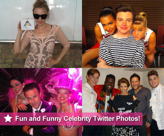 Pictures From Celeb Twitter Accounts Including Kylie Minogue, David Arquette, Glee Cast