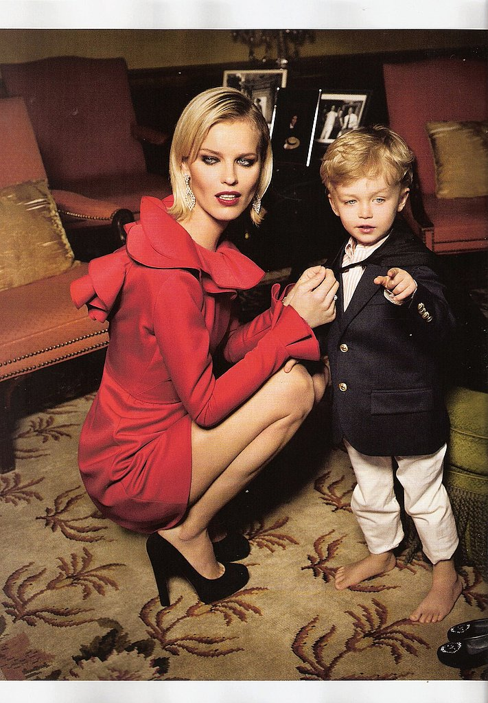 Eva Herzigova, Partner Expecting Second Child
