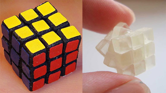 Pictures of the Tiny Rubik's Cube