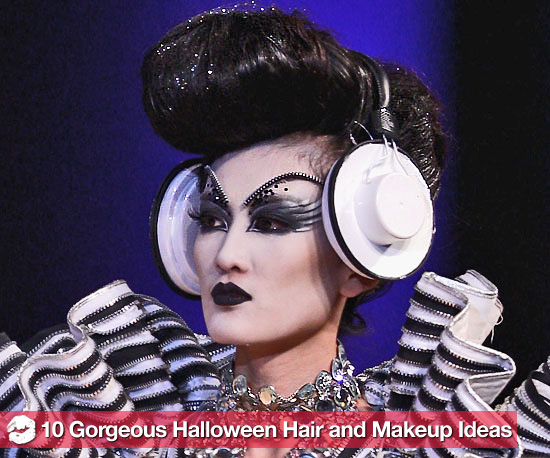 10 Pretty, New Halloween Hair and Makeup Ideas