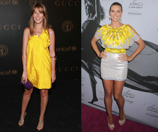 Nina and Heidi both work bright yellow like pros.