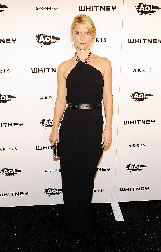 Claire Danes should wear black more often! Her Lanvin dress is divine on her.