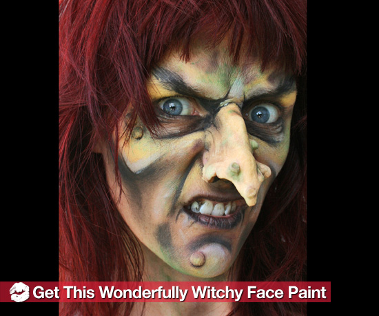 How to Create a Scary Witch Halloween Face Paint Look - Easy Halloween Faces