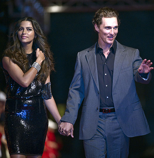Pictures of Matthew McConaughey, Camila Alves, Christian Slater, Hugh Grant at China Golf Tournament
