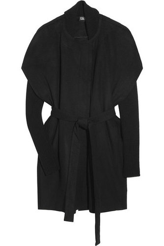 Edun - Asymmetric wool cape coat