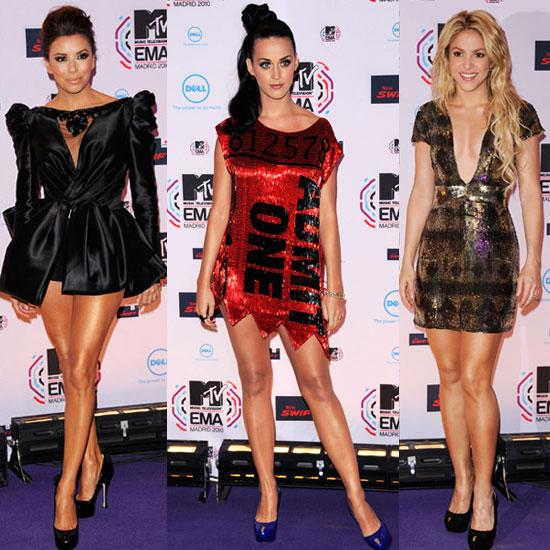 Pictures of Women Red Carpet at MTV EMAs 2010 Including Katy Perry, Shakira, Eva Longoria, Kesha, Rihanna, Miley Cyrus