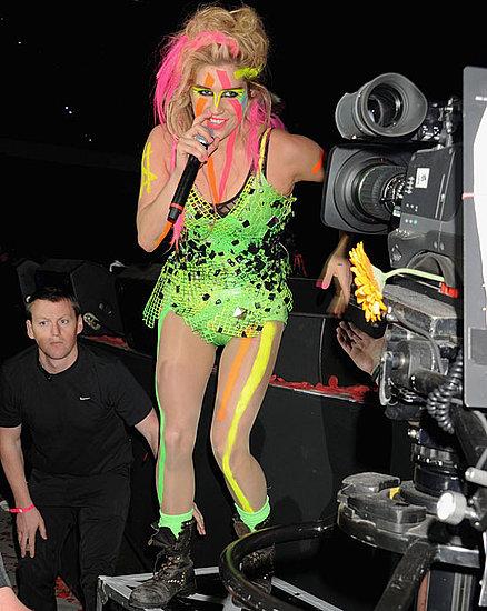 Ke$ha makeup at 2010 MTV Europe Music Awards
