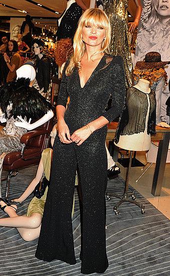 Photos de Kate Moss a Londres pour le lancement de sa derniere collection pour Topshop