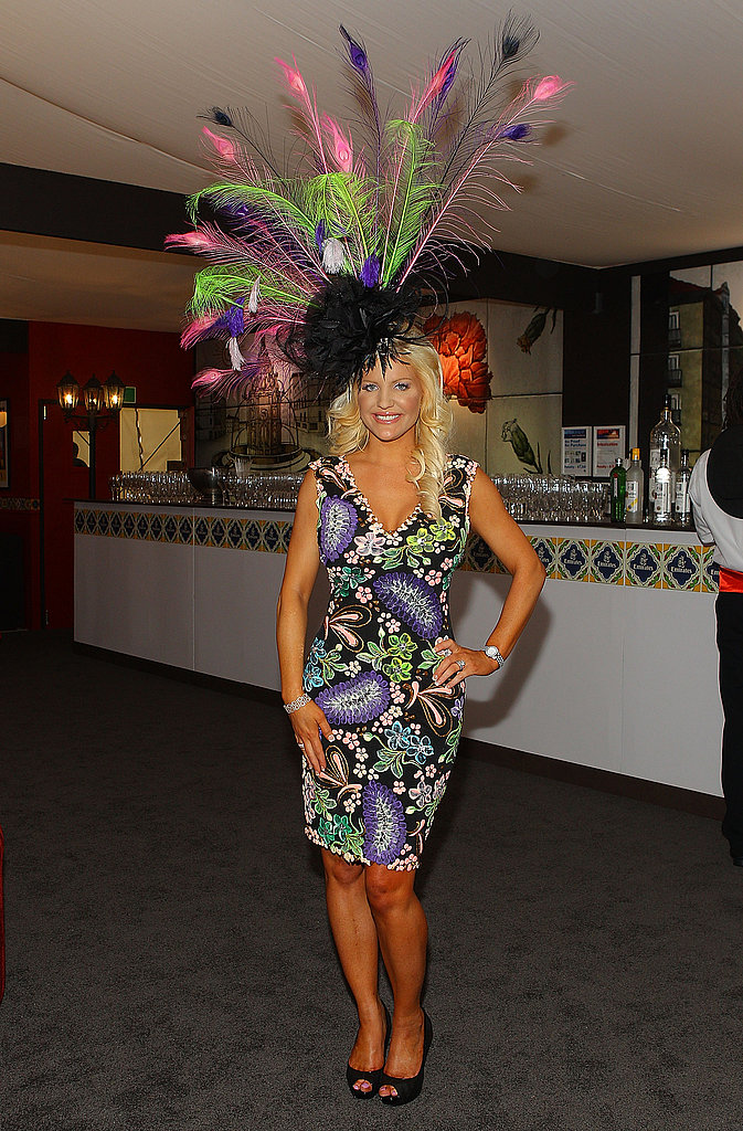 Brynne Gordon-Edelsten's DIY head piece turned heads.