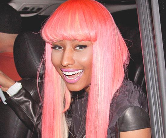 Nicki Minaj Matches Her Hair to Her Lipstick
