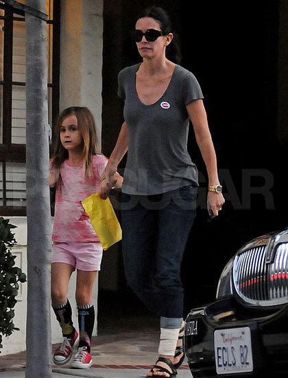 Pictures of Courteney Cox and Coco Arquette in LA
