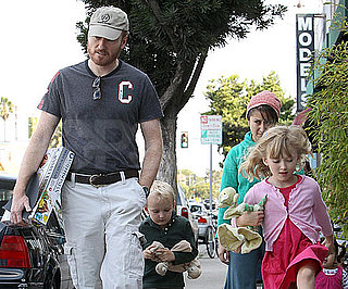 Slide Picture of Conan O'Brien With Beckett and Neve in LA