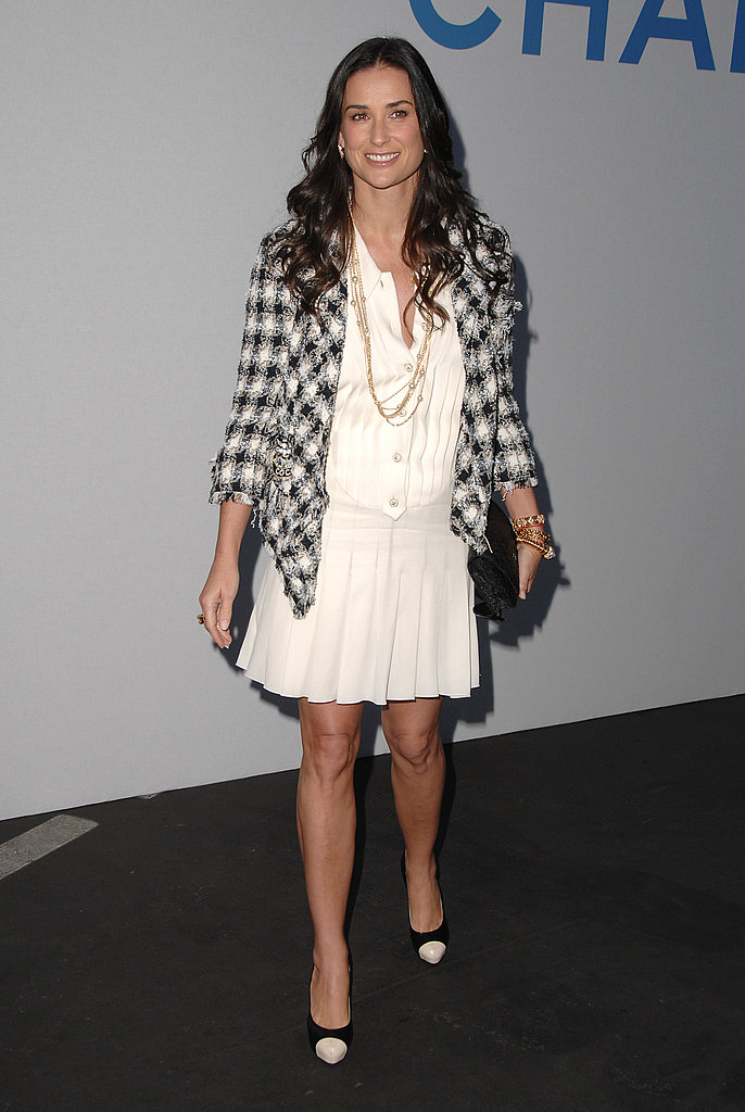 Classic Chanel at Karl Lagerfeld's Chanel Cruise Show in 2007.
