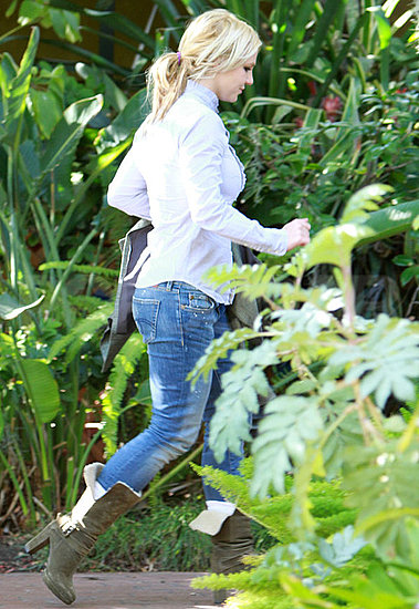 Pictures of Britney Spears Arriving at the Recording Studio in LA