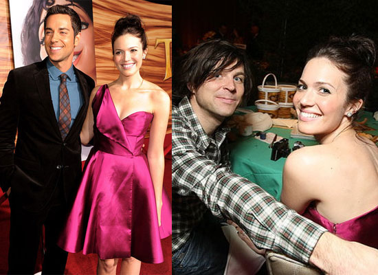 Mandy Moore With Husband Ryan Adams and Zachary Levi at Tangled Premiere in LA