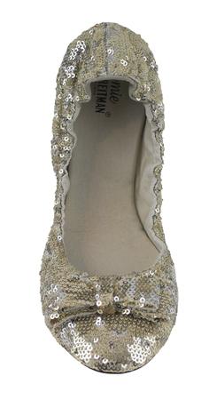 Womens Sequin Shoes - Sequins Ballet Flats