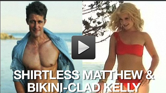 Video of Matthew Morrison Without a Shirt and Kelly Osbourne in a Bikini