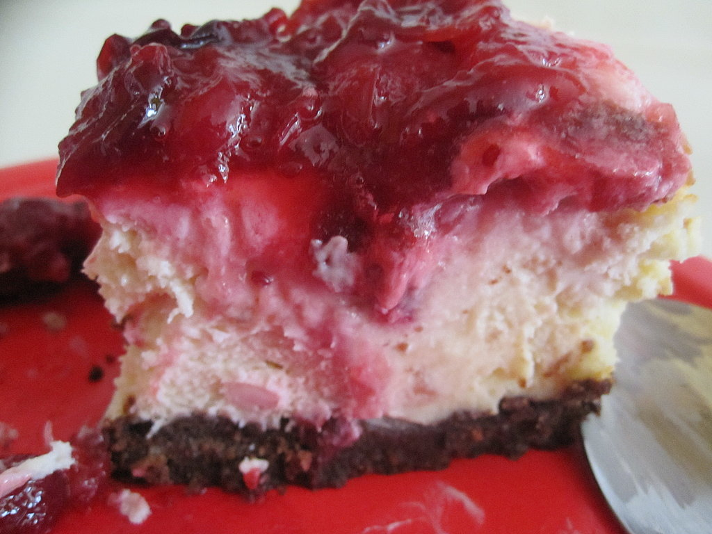 Cranberry Chocolate Cheesecake
