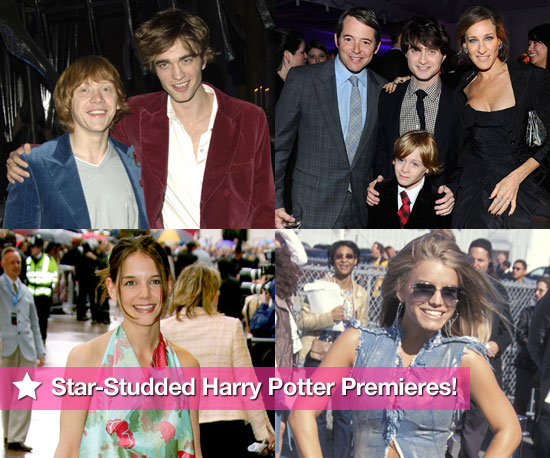 Pictures of Robert Pattinson, Katie Holmes, Jessica Simpson and Other Celebrities at Harry Potter Premieres