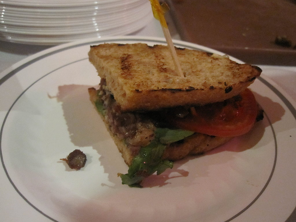 Another winner was Tim Love's black lamb belly sandwich. The bread was softly toasted, the lamb was crispy and fatty, and the aioli tangy and creamy.