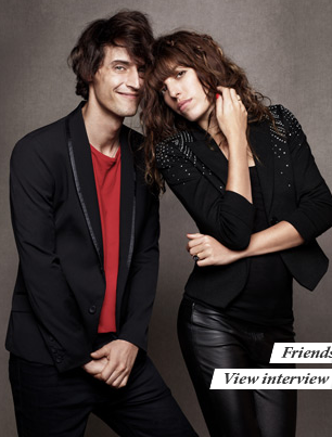 Lou Doillon and her pal.