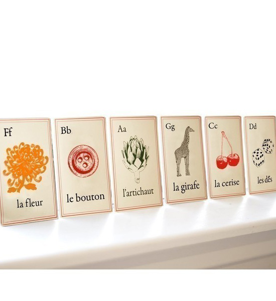 Alphabet Cards in French Style