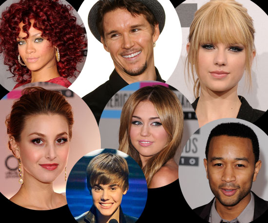 Hair and Makeup of Celebrities at the 2010 American Music Awards