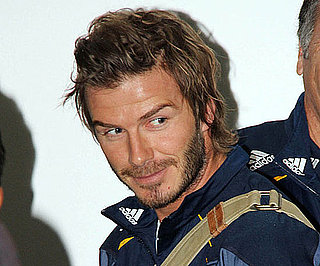 Slide Picture of David Beckham Arriving in Sydney, Australia