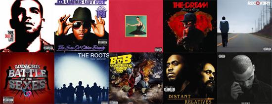 Best Hip-Hop Albums of 2010