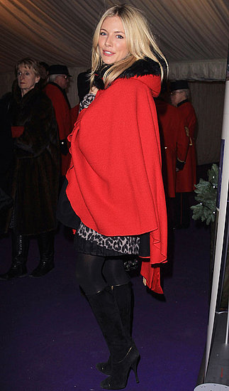 Pictures of Sienna Miller at a Caroling Service in London