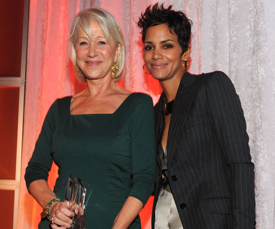 Slide Picture of Halle Berry and Helen Mirren at Women in Entertainment Breakfast