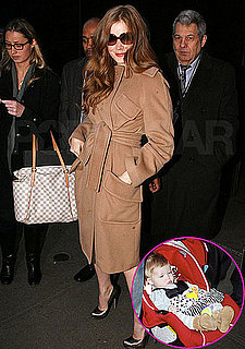 Pictures of Amy Adams, Aviana Le Gallo, and Darren Le Gallo Arriving to Good Morning America
