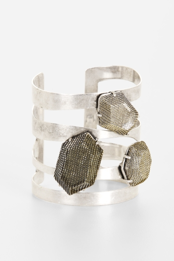 BCBGeneration Open Metal Stone Cuff ($48)