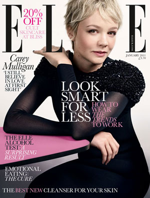 Carey Mulligan Talks About Shia LaBeouf, losing weight and cutting her hair in 2011 January Elle UK