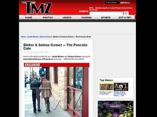 Site mostra Selena Gomez e Justin Bieber andando de braços dados