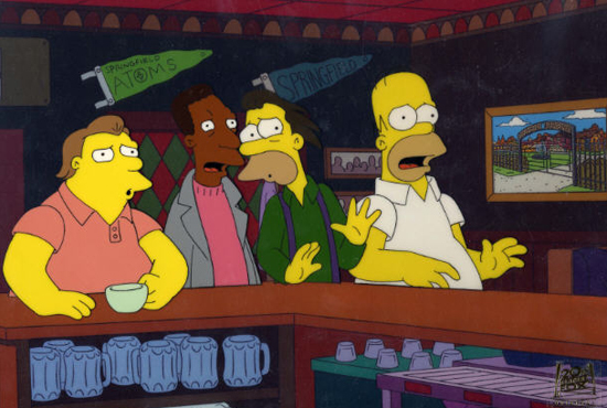 Moe's on The Simpsons
