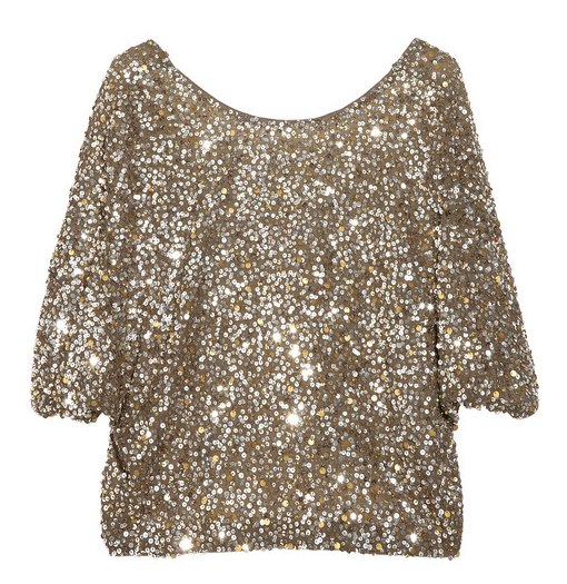 Vince Sequined Crepe T-Shirt ($295)