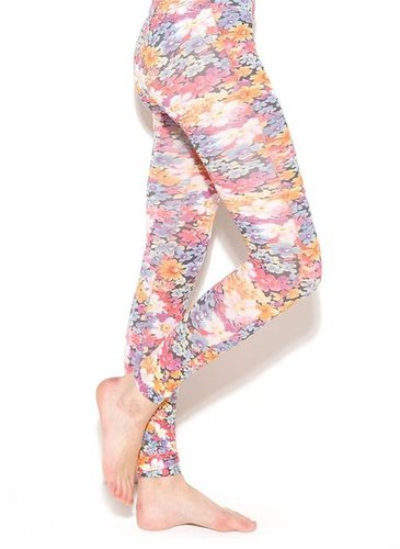 Floral Footless Tights by Laden Tights (£6)