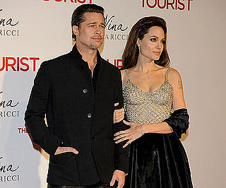 Slide Picture of Brad Pitt and Angelina Jolie at The Tourist Premiere in Madrid