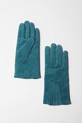 Urban Outfitters Suede Ruffle Gloves ($34)