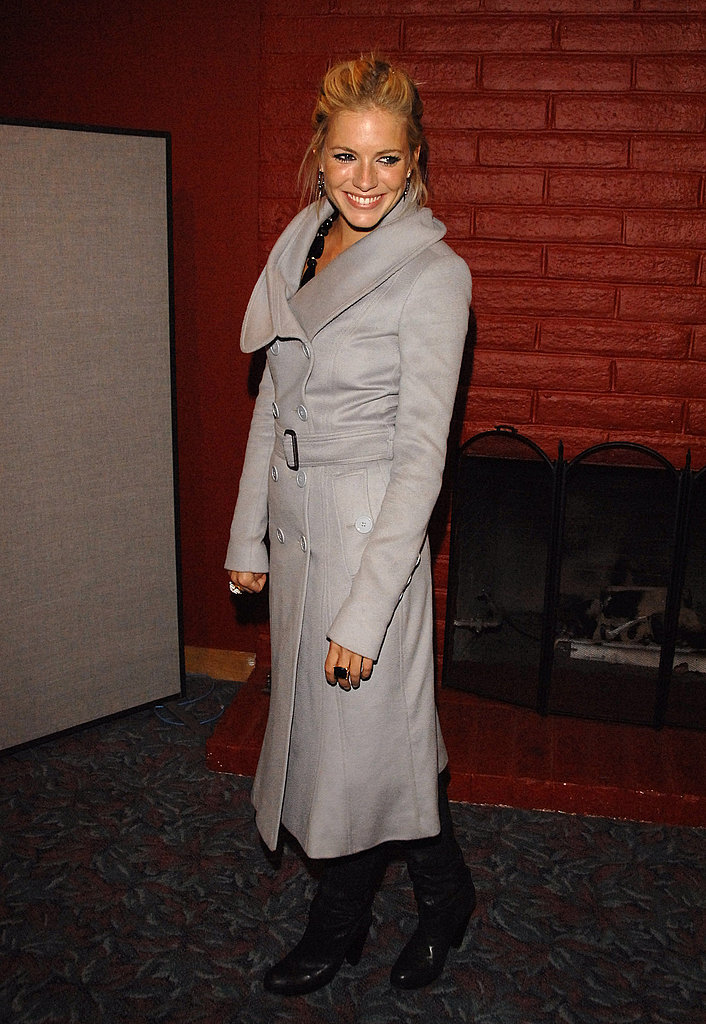 Sienna went for a wintery look for the 2007 Sundance Film Festival.