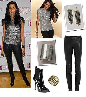 Padma Lakshmi Wears Leather Pants in New York
