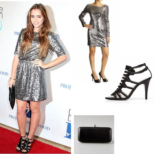 NYE Inspiration: Steal Lily Collins' Sequined Frock