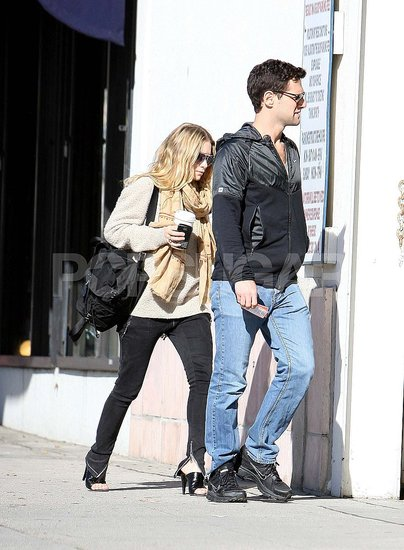 Pictures of Ashley Olsen and Justin Bartha in LA
