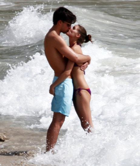 Olivia Palermo Bikini Pictures Kissing Johannes Huebl in St Barts