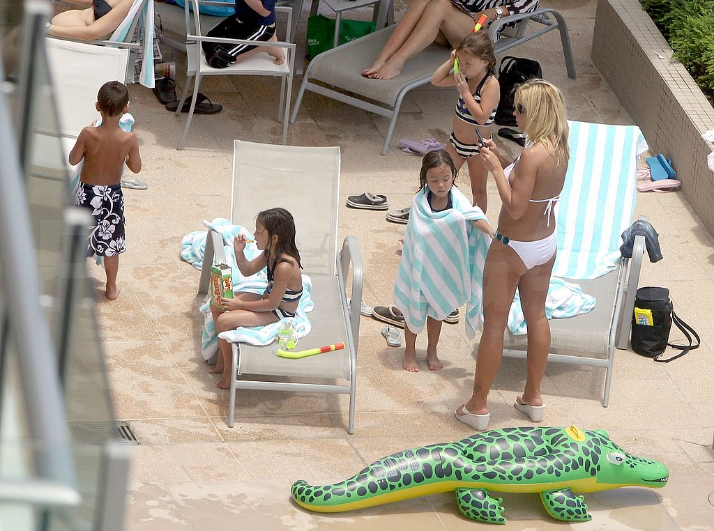 Kate Gosselin Shows Off Her Tan in a White Bikini While Down Under With Her Kids